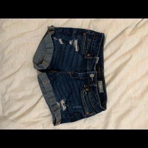 Ripped aeropostale denim shorts